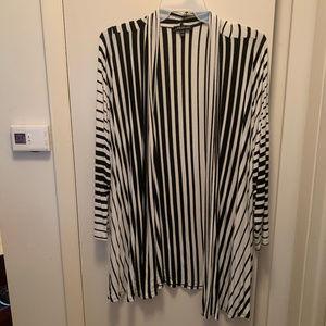Striped Open Cardigan